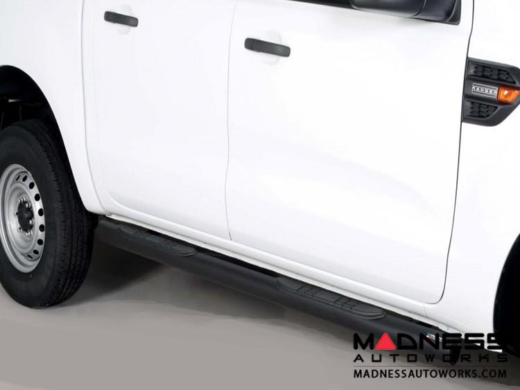 Ford Ranger Grand Pedana Side Steps - Black Powdercoat - 76mm