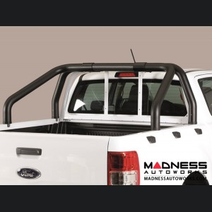 Ford Ranger Double Cab Roll Bar - Black Powdercoat - 76mm