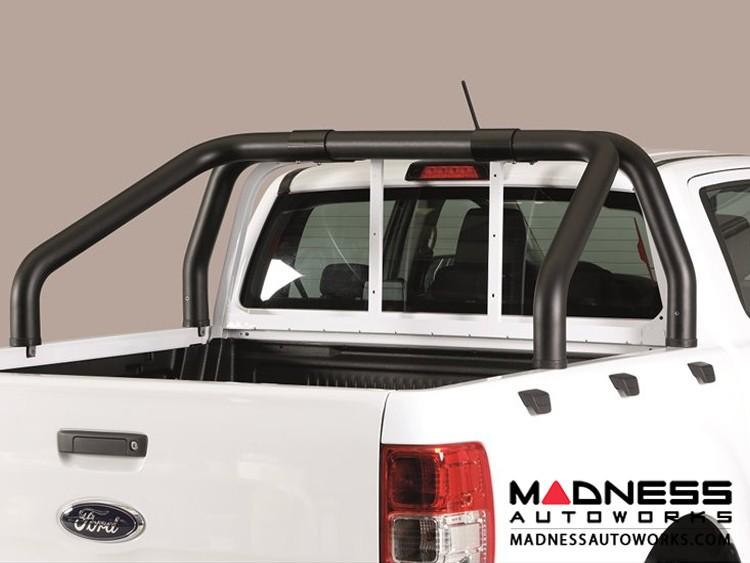 Ford Ranger Double Cab Roll Bar - Black Powdercoat - 76mm