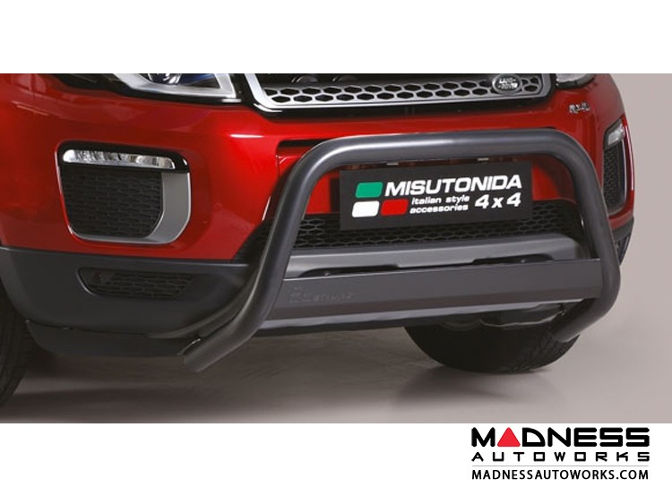 Range Rover Evoque Front Bumper Guard by Misutonida - EC Medium - Black Powder Coated Finish - 2016+