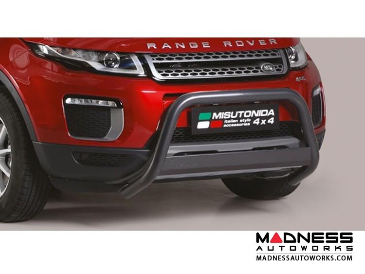 Range Rover Evoque Front Bumper Guard by Misutonida - Medium - Black Powder Coat Finish - 2016+