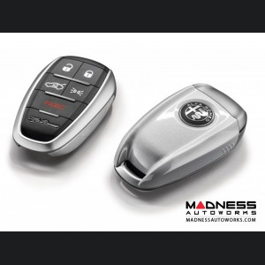 Alfa Romeo Giulia Key Fob Cover - Trofeo White Tricoat Finish