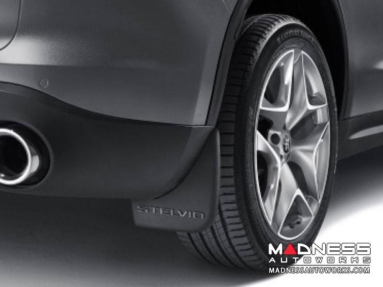 Alfa Romeo Stelvio Splash Guards - Rear - Non QV Models