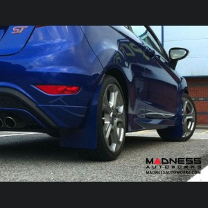 Ford Fiesta ST Mud Flaps by RallyFlapZ (4) - Spirit Blue (2017 - 2018) MK7