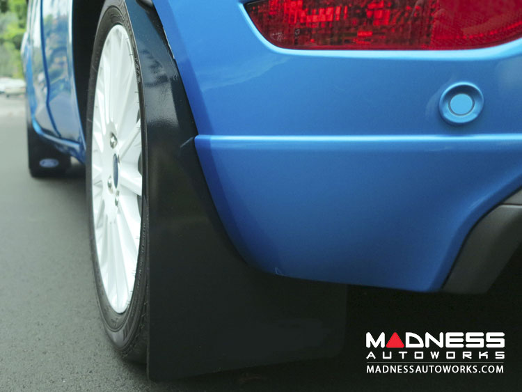 Ford Focus RS Mud Flaps by RallyFlapZ (4) - Black (2011 - 2017)
