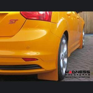 Ford Focus ST Mud Flaps by RallyFlapZ (4) - Tangerine Scream (2011 - 2017)