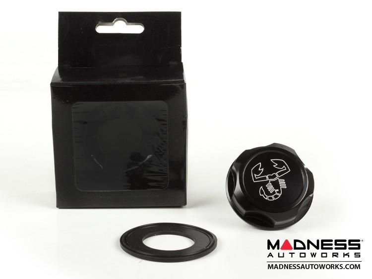 Jeep Renegade Oil Cap - Scorpion Logo - Black Anodized Billet