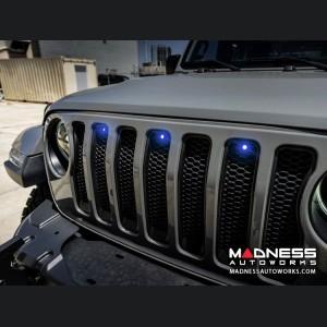 Jeep Gladiator Pre-Runner Style LED Grill Light Kit - Blue