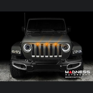 Jeep Gladiator Pre-Runner Style LED Grill Light Kit - Amber