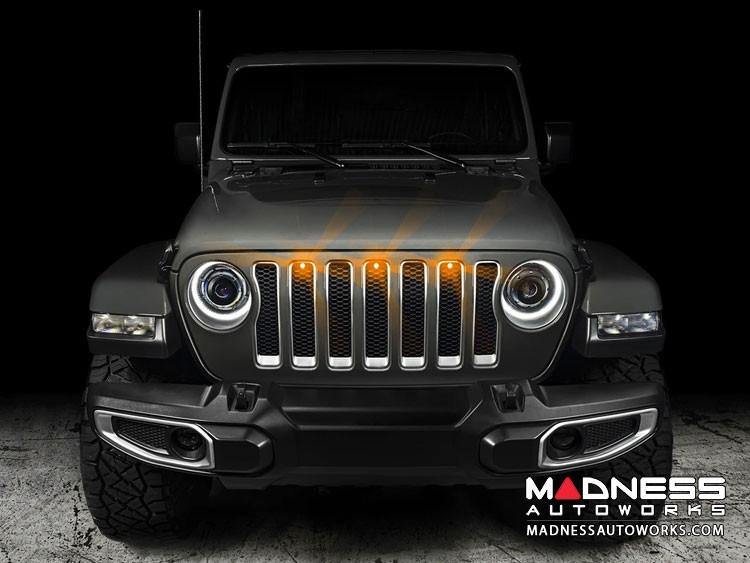 Jeep Gladiator Pre-Runner Style LED Grill Light Kit - Amber