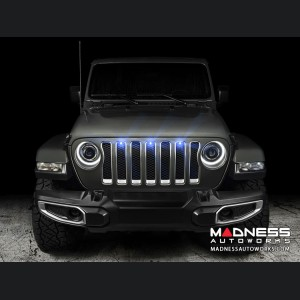 Jeep Gladiator Pre-Runner Style LED Grill Light Kit - Blue