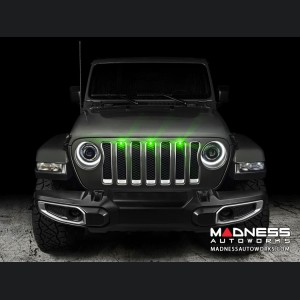 Jeep Gladiator Pre-Runner Style LED Grill Light Kit - Green