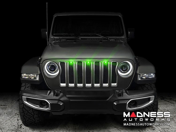 Jeep Gladiator Pre-Runner Style LED Grill Light Kit - Green