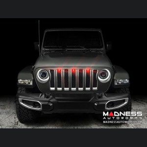 Jeep Gladiator Pre-Runner Style LED Grill Light Kit - Red