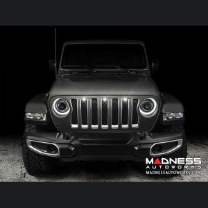 Jeep Gladiator Pre-Runner Style LED Grill Light Kit - White