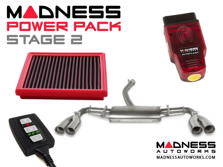 Jeep Renegade 2.4L MADNESS Power Pack - Stage 2 - Quad Exhuast Tips