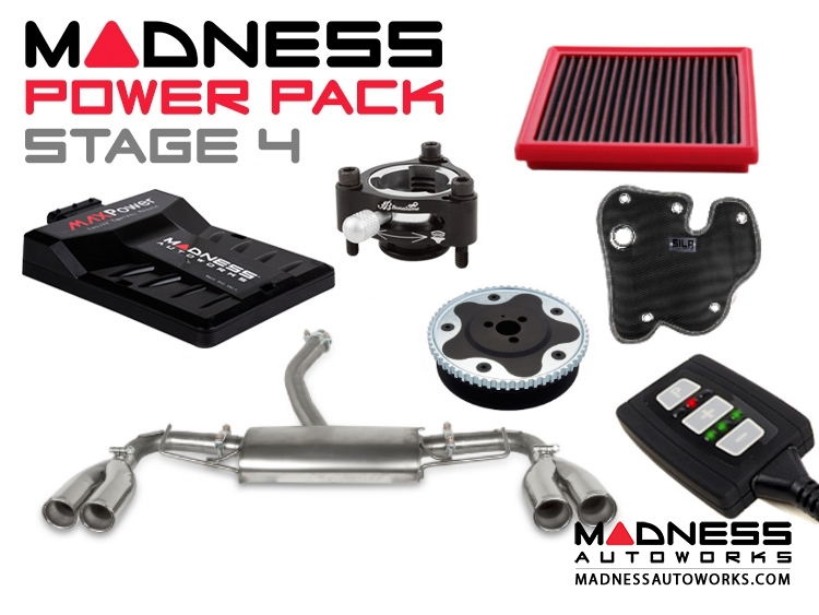 Jeep Renegade 1.4L MADNESS Power Pack - Stage 4 - Quad Exhuast Tips