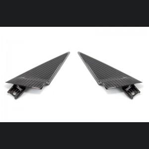 Alfa Romeo 4C Carbon Fiber Door Trim Triangles