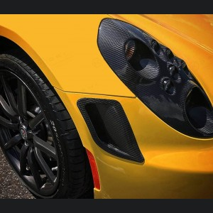 Alfa Romeo 4C Carbon Fiber Front Bumper Air Vent Trim Kit - Launch Edition