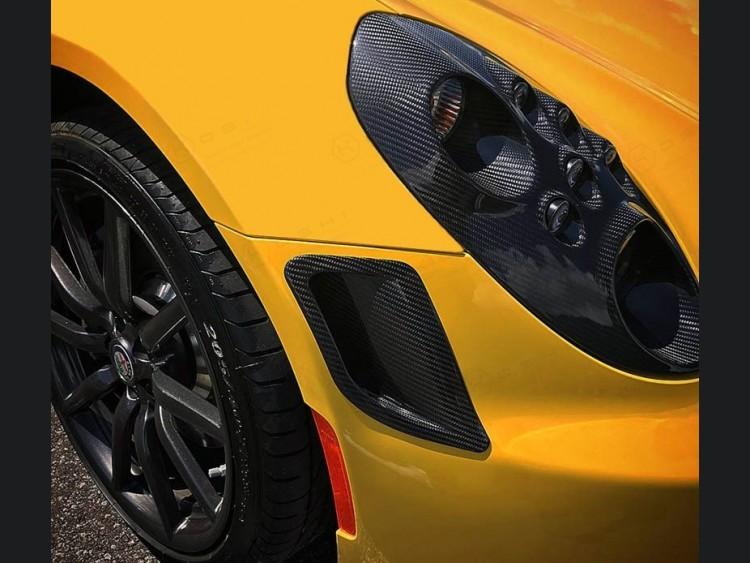 Alfa Romeo 4C Carbon Fiber Front Bumper Air Vent Trim Kit - Launch Edition