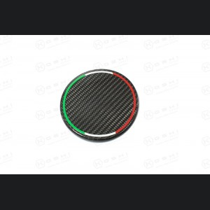 Alfa Romeo 4C Carbon Fiber Fuel Door - Italian Flag Design