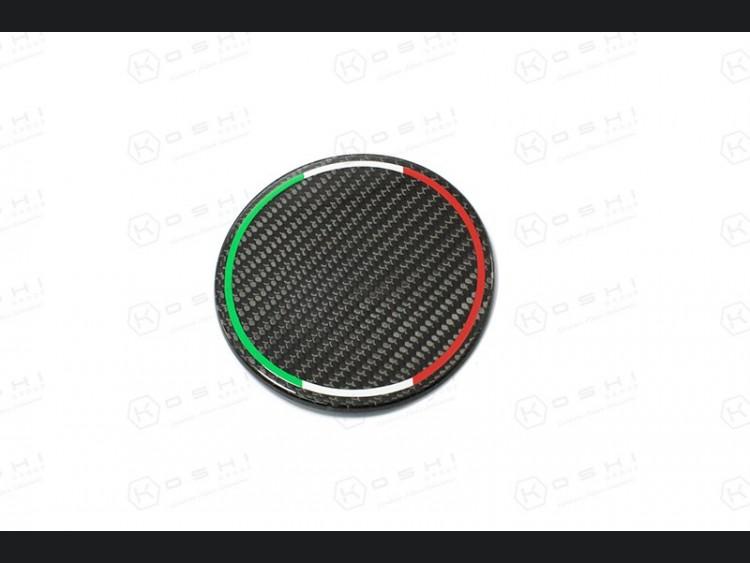 Alfa Romeo 4C Carbon Fiber Fuel Door - Italian Flag Design