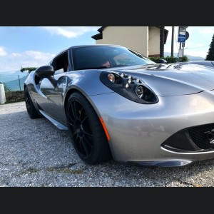Alfa Romeo 4C Carbon Fiber Front Bumper Lip Trim Kit - Aggressive Design