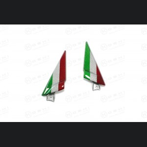 Alfa Romeo 4C Carbon Fiber Door Trim Triangles - Italian Flag Design