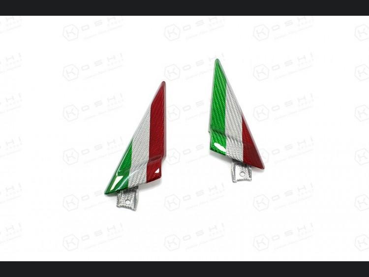 Alfa Romeo 4C Carbon Fiber Door Trim Triangles - Italian Flag Design