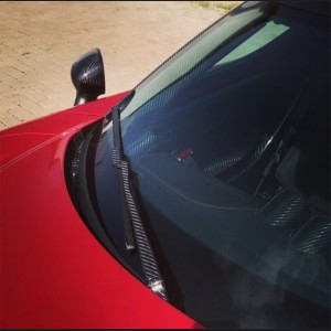 Alfa Romeo 4C Carbon Fiber Windshield Wiper Arm Cover