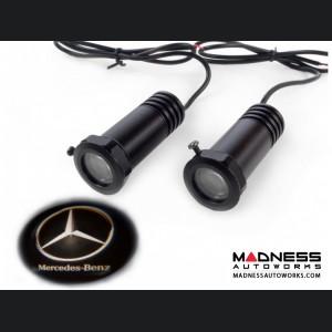 Puddle/ Welcome Lights (2) - Internal Mount Design - Mercedes Logo