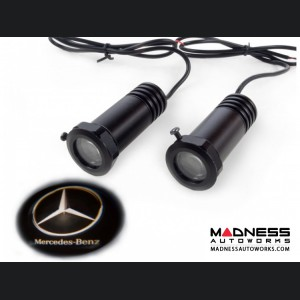 Puddle/ Welcome Lights (2) - Internal Mount Design - Mercedes Logo