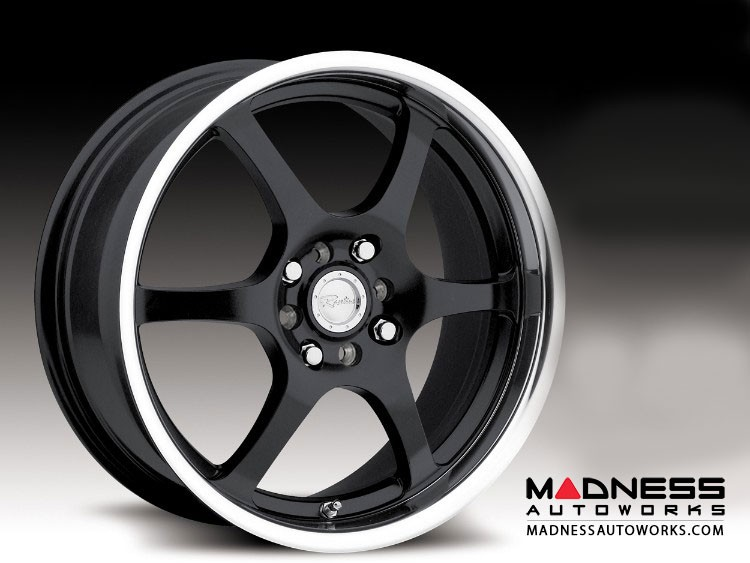 "Jeep Renegade Custom Wheels by Raceline - 126 - 17""x7.5"" - Black w/ Mirror Finish"