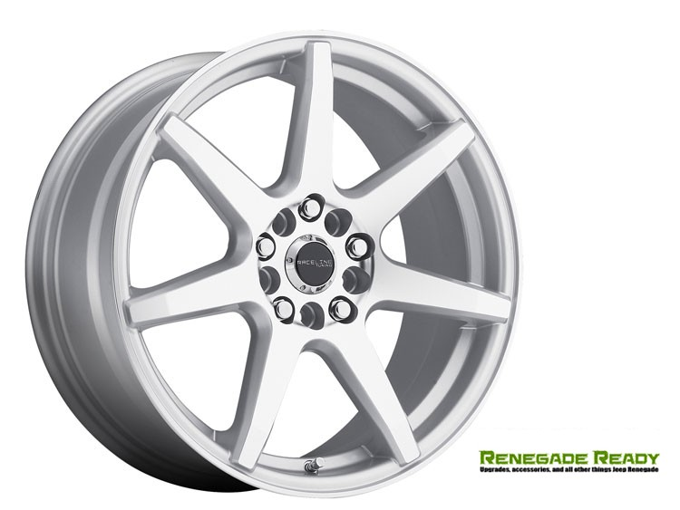 "Jeep Renegade Custom Wheels by Raceline - 131 - 18""x7.5"" - EVO Silver"