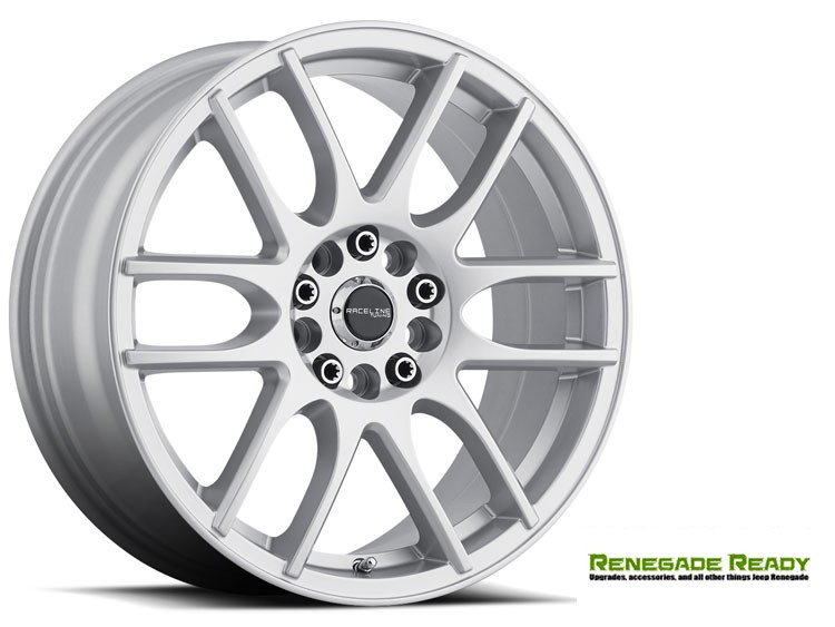 "Jeep Renegade Custom Wheels by Raceline - 141 - 16""x7"" - Mystique Silver"