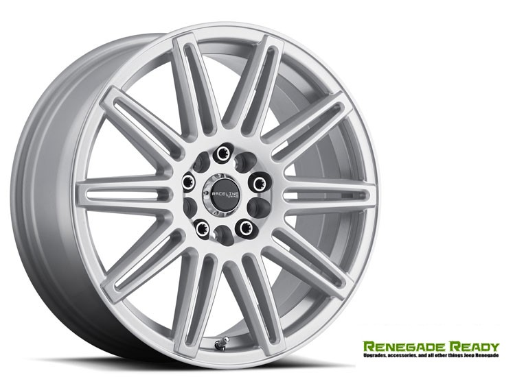 "Jeep Renegade Custom Wheels by Raceline - 143 - 17""x7.5"" - Cobalt Silver Gloss"