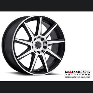 "Jeep Renegade Custom Wheels by Raceline - 144M - 17""x7.5"" - Storm Black w/ Machined Face"