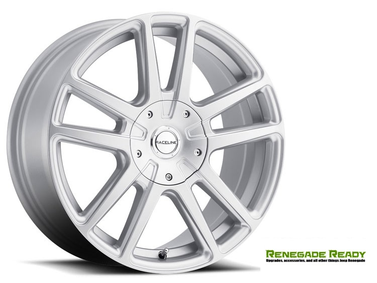 "Jeep Renegade Custom Wheels by Raceline - 145S - 15""x7"" - Encore Silver Finish"