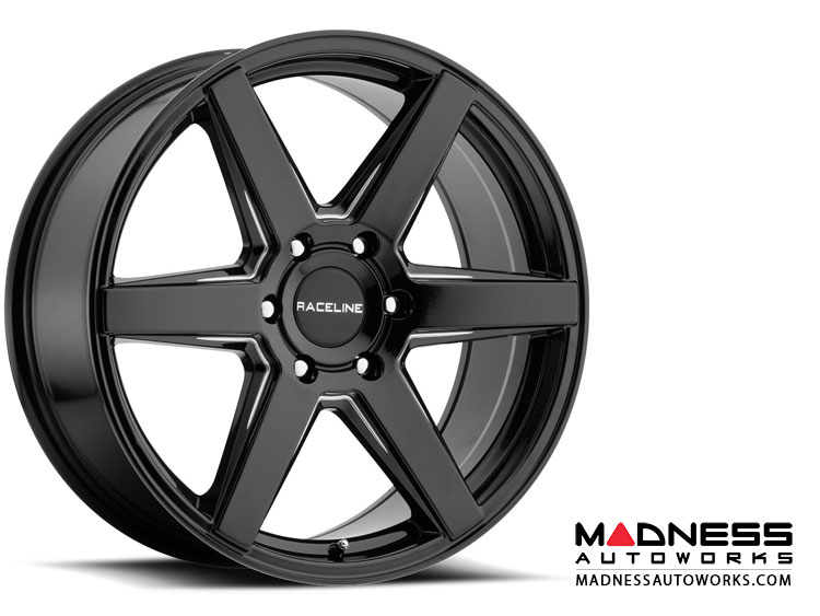 "Jeep Renegade Custom Wheels by Raceline - 156B - 18""x8"" - Surge Black"