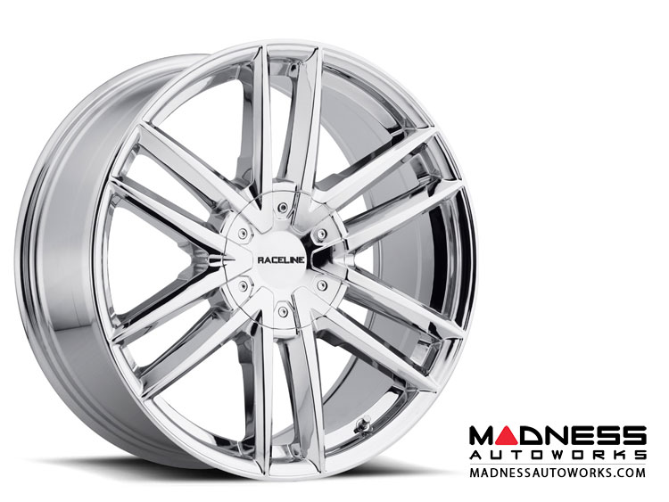 "Jeep Renegade Custom Wheels by Raceline - 158C - 18""x8"" - Impulse Chrome"