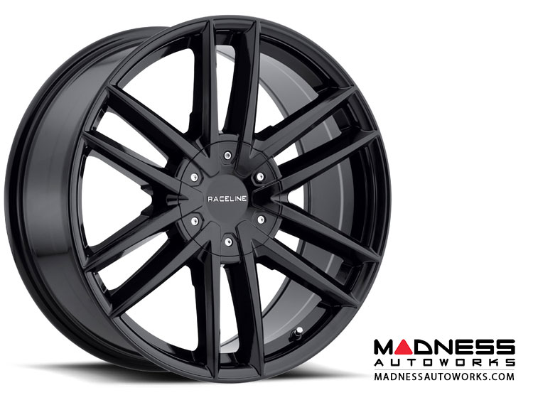 "Jeep Renegade Custom Wheels by Raceline - 158B - 18""x8"" - Impulse Black Gloss"