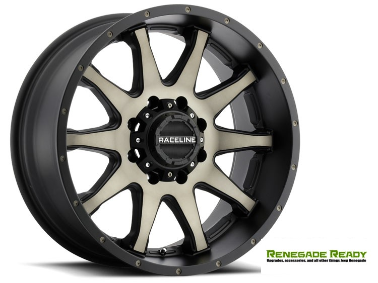 "Jeep Renegade Custom Wheels by Raceline - 930DM - 18""x8"" - Shift Dark Tint"