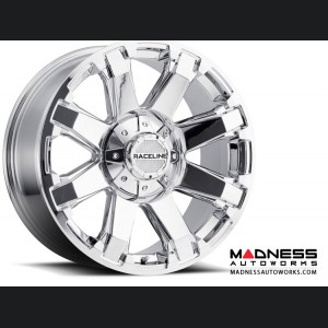 "Jeep Wrangler Custom Wheels by Raceline - 936C - 18""x9"" - Throttle Chrome"