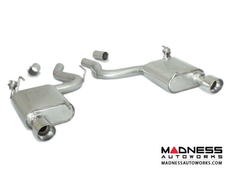 Ford Mustang EcoBoost Performance Exhaust by Ragazzon - Evo Line - Axle Back w/ Vacuum Operated Valve - Dual Exit/ Dual Polished Tip