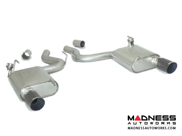 Ford Mustang EcoBoost Performance Exhaust by Ragazzon - Evo Line - Axle Back w/ Vacuum Operated Valve - Dual Exit/ Dual Carbon Tip