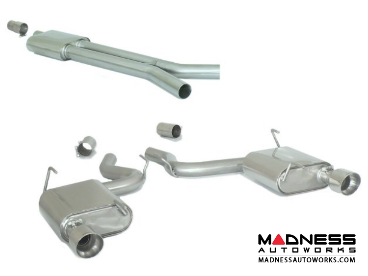 Ford Mustang EcoBoost Performance Exhaust by Ragazzon - Evo Line - Center Silencer w/ Mufflers and Polished Tips