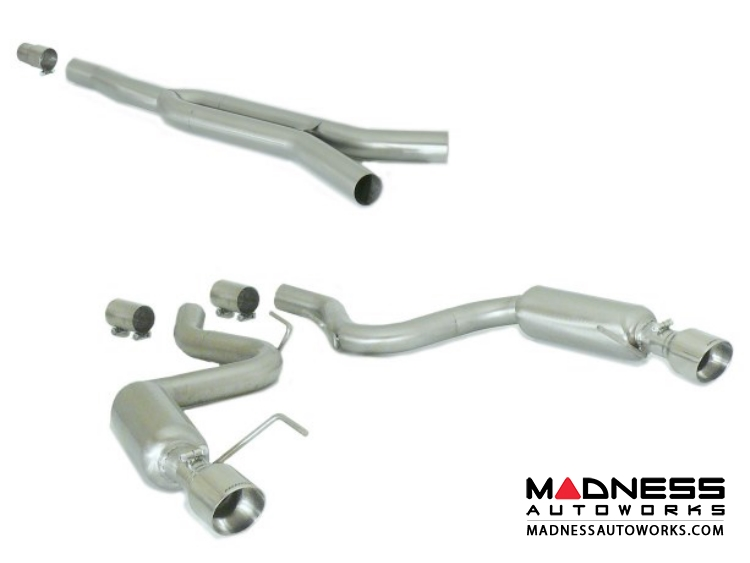 Ford Mustang EcoBoost Performance Exhaust by Ragazzon - Evo Line - Center Section w/ Sport Mufflers and Polished Tips
