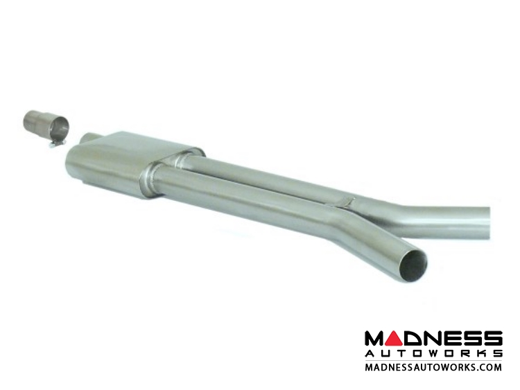 Ford Mustang EcoBoost Performance Exhaust by Ragazzon - Evo Line - Center Section w/ Silencer