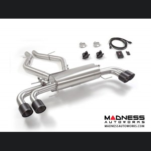 Alfa Romeo Giulia Performance Exhaust - 2.9L QV - Ragazzon - Evo Line - Axle Back w/ Electronic Operated Valve - Dual Exit/ Quad Carbon Tips