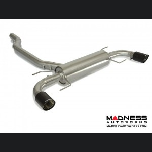 Alfa Romeo Giulia Performance Exhaust - 2.0L - Ragazzon - Axle Back - Muffled - w/ Carbon Fiber Tips